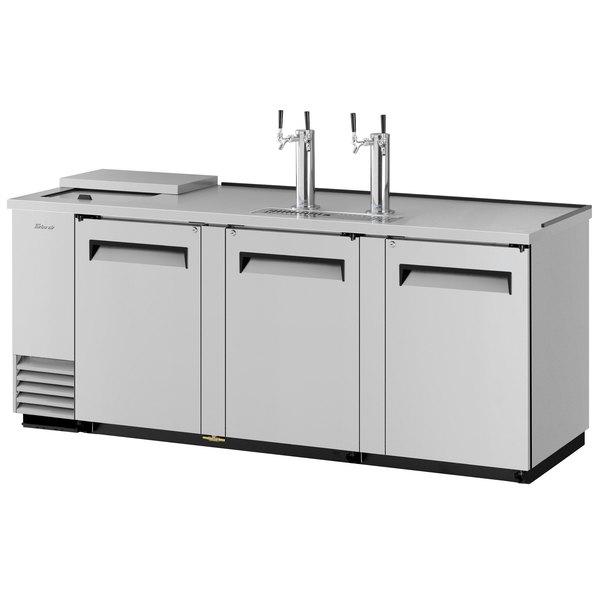 Turbo Air TCB-4SD (2) Double Tap Club Top Kegerator Beer Dispenser - Stainless Steel, (4) 1/2 Keg Capacity