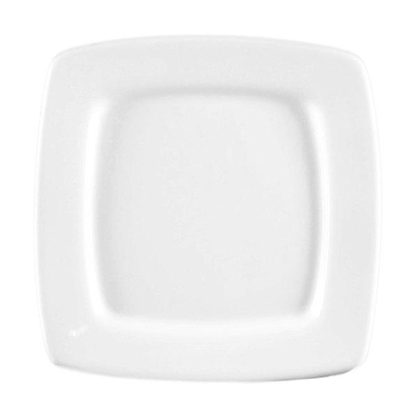"""CAC RCN-S16Q Bright White Clinton Square in Square Plate 10 1/2"""" - 12/Case"""