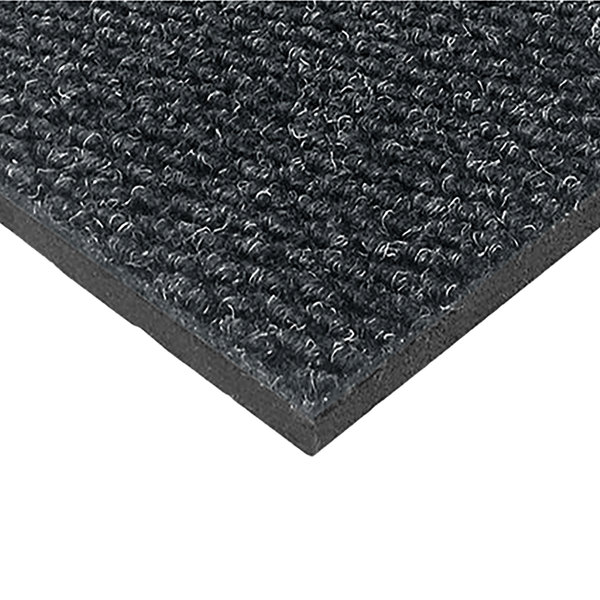 "Cactus Mat 1082M-L46 Pinnacle 4' x 6' Vibrant Charcoal Upscale Anti-Fatigue Berber Carpet Mat - 1"" Thick"