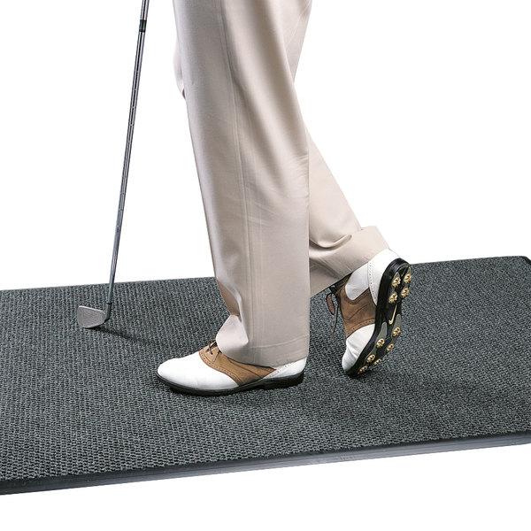 "Cactus Mat 1082M-L46 Pinnacle 4' x 6' Charcoal Upscale Anti-Fatigue Berber Carpet Mat - 1"" Thick"
