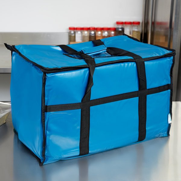 "Choice Insulated Food Pan Carrier, Blue Vinyl, 23"" x 13"" x 15"""