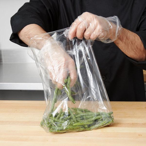 "Plastic Food Bag 8"" x 4"" x 15"" - 1000/Box"