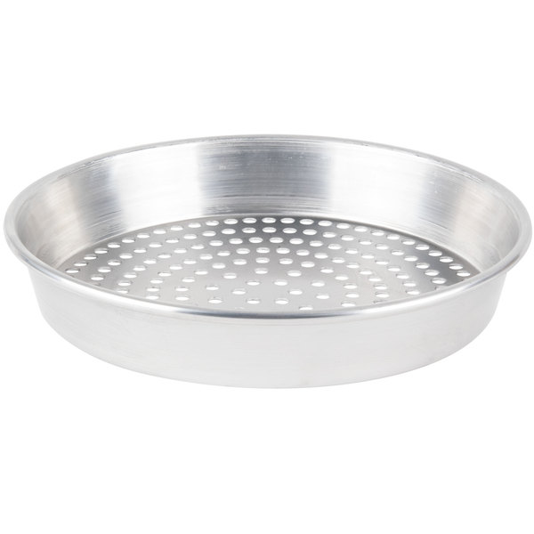 "American Metalcraft SPHA90132 13"" x 2"" Super Perforated Heavy Weight Aluminum Tapered / Nesting Pizza Pan"