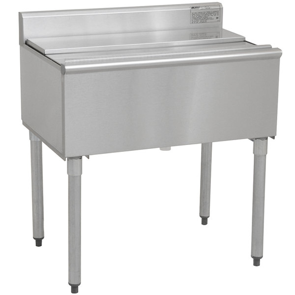 """Eagle Group B30IC-12D-18-7 1800 Series 30"""" Ice Chest with Post-Mix Cold Plate - 123 lb. Capacity Main Image 1"""