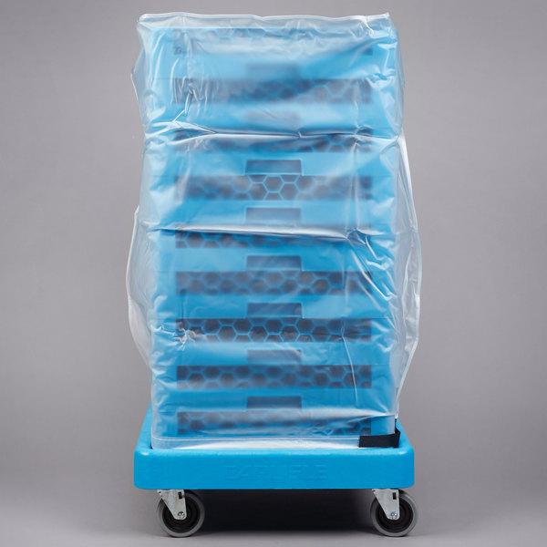 "Carlisle RDC07 OptiClean 36"" Clear Glass Rack Dust Cover"