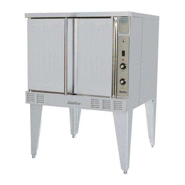 Garland SunFire Series SCO-GS-10S Liquid Propane Single Deck Full Size Convection Oven with Single Speed Fan - 53,000 BTU Main Image 1
