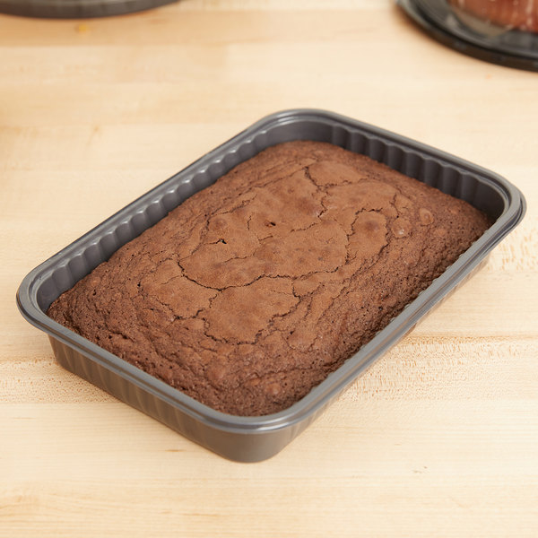 Genpak 55357 Bake 'N Show Dual Ovenable Brownie / Cake Pan - 250/Case