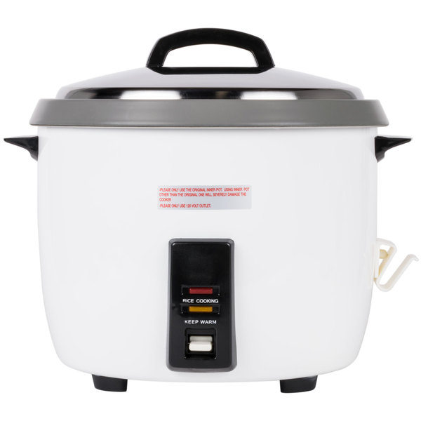 Thunder Group 60 Cup (30 Cup Raw) Non-Stick Commercial Rice Cooker / Warmer - 120V