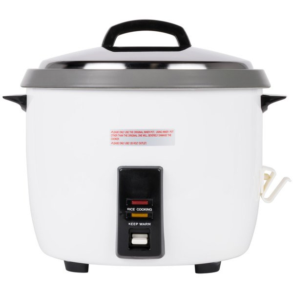 60 Cup (30 Cup Raw) Non-Stick Commercial Rice Cooker and Warmer