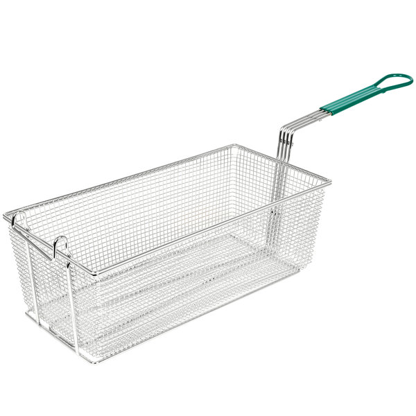 17 inch x 8 inch x 6 inch Fryer Basket with Front Hook