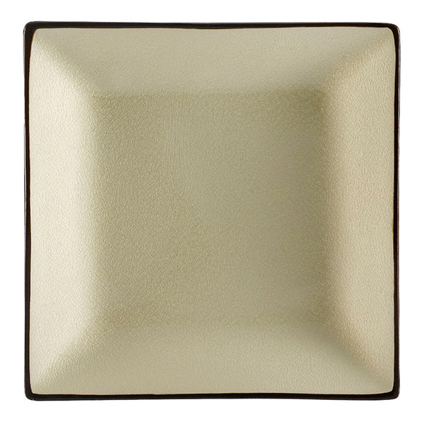 """CAC 6-S16-W Japanese Style 10"""" Square China Plate - Creamy White - 12/Case"""