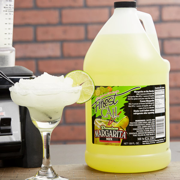 Finest Call 1 Gallon Ready-to-Use Margarita Mix - 4/Case Main Image 2