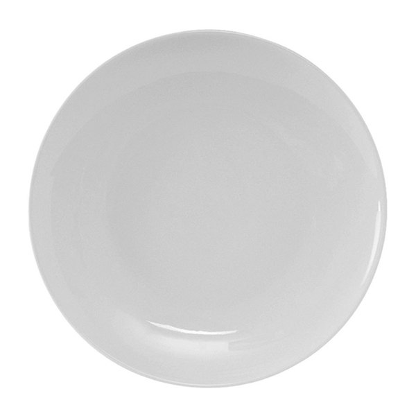 Tuxton VPA-102 Florence Coupe Plate in Porcelain White - 10 1/4 inch 12 / Case