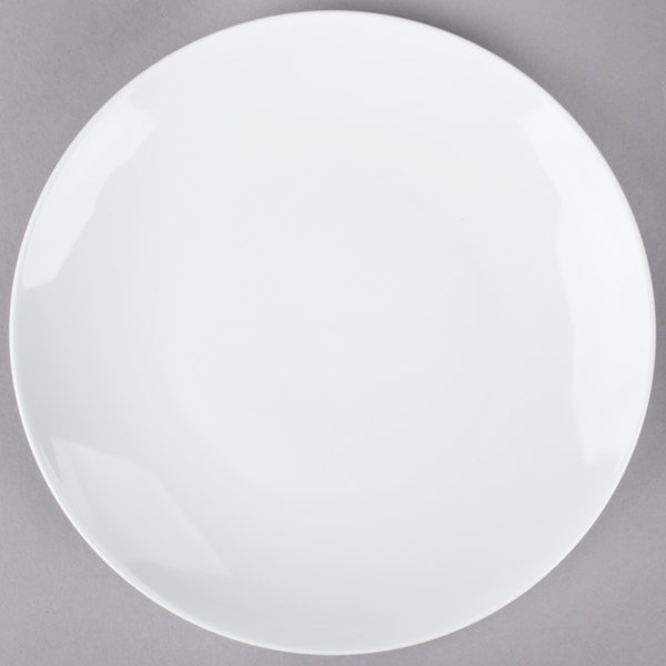 Tuxton VPA-102 Florence 10 1/4 inch Bright White Coupe China Plate - 12/Case