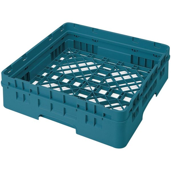 Cambro BR414414 Teal Camrack Full Size Open Base Rack with 1 Extender