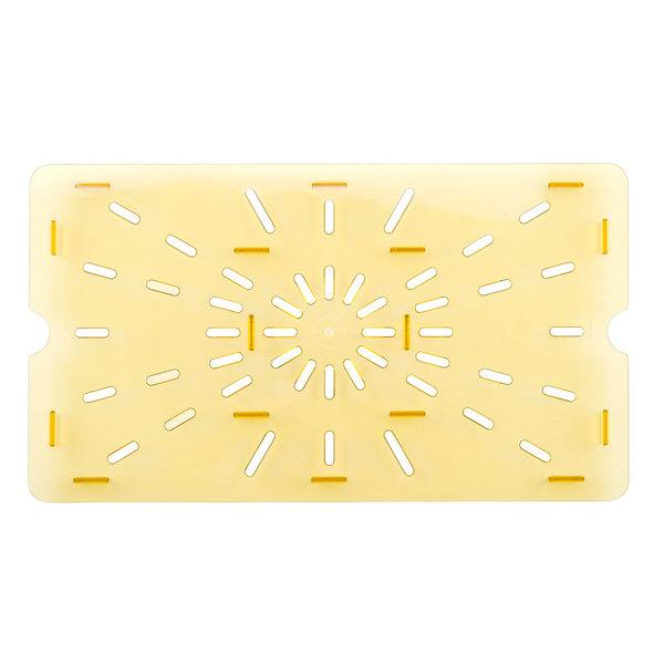 Cambro 10HPD150 Full Size Amber High Heat Drain Tray