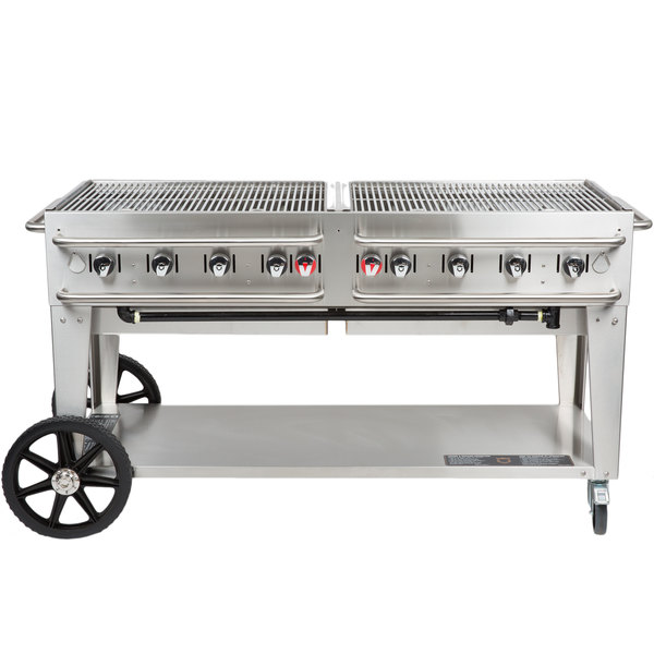 """Crown Verity RCB-60-SI-LP 60"""" Outdoor Rental Grill with Single Gas Connection"""