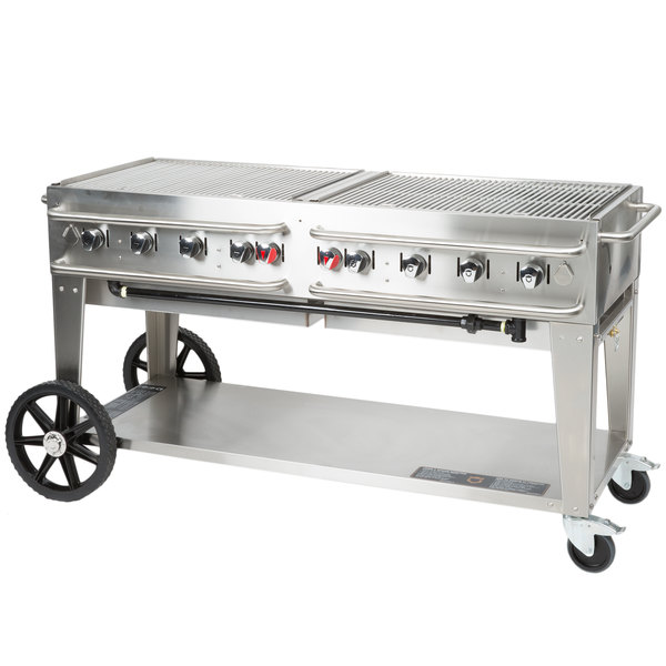 """Crown Verity RCB-60-SI-LP 60"""" Outdoor Rental Grill with Single Gas Connection Main Image 1"""