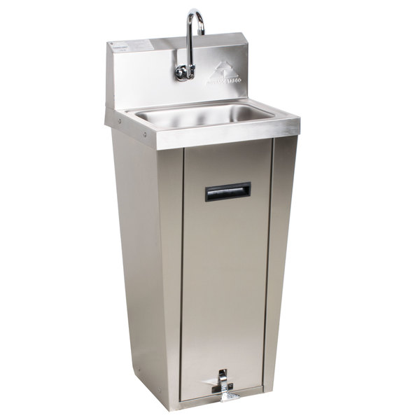Advance Tabco 7 Ps 90 Hands Free Hand Sink With Pedestal Base