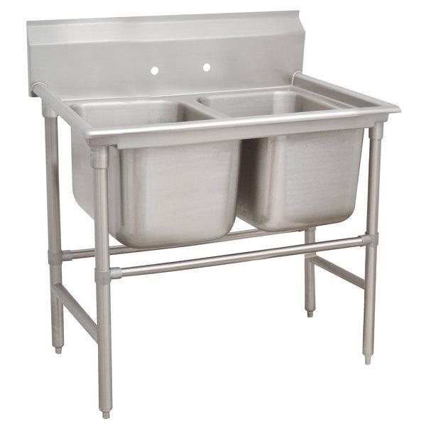 "Advance Tabco 94-62-36 Spec Line Two Compartment Pot Sink - 48"""