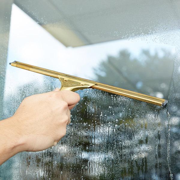 "Unger GS350 GoldenClip Complete Brass 14"" Window Squeegee"