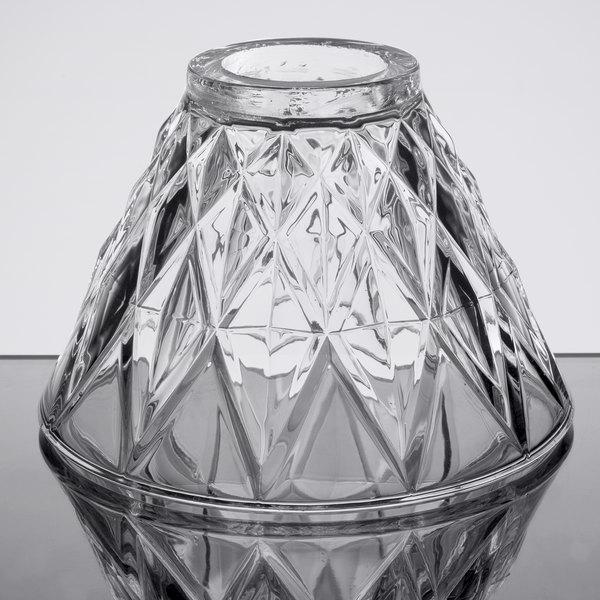 Sterno 85442 Table Lamp Glass Diamond Cut Clear Shade Main Image 1