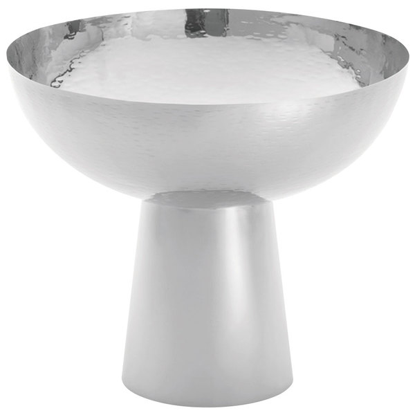 Tablecraft RP1208 Remington 4.1 Qt. Stainless Steel Bowl with Pedestal