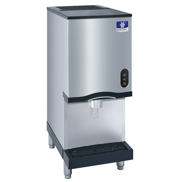 Manitowoc RNS-20A Air Cooled Countertop Ice Maker and Water Dispenser - 20 lb. Bin with Lever Dispensing