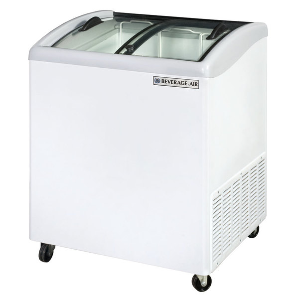 "Beverage Air NC28-1-W 28"" Curved Lid Novelty Display Freezer"