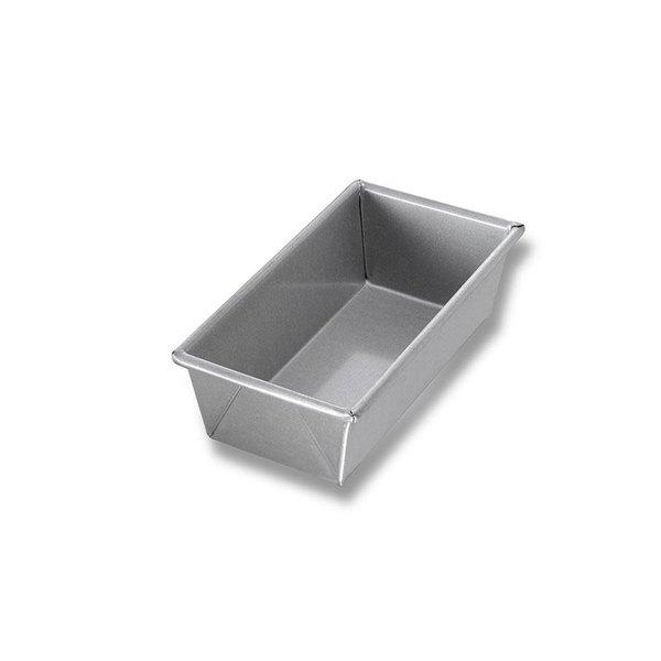 Chicago Metallic 41065 3/4 lb. Single Open Top Glazed Bread Pan - 8 inch x 4 inch x 2 1/2 inch