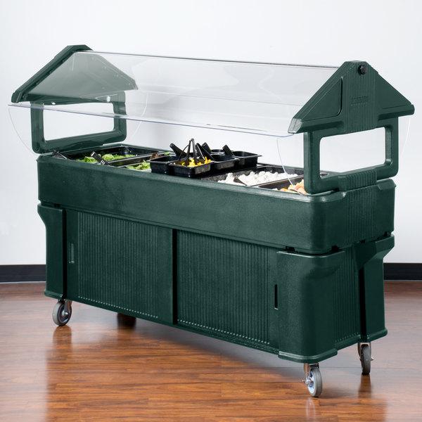 "Carlisle 661108 Forest Green 6' ""Six Star"" Portable Food / Salad Bar with Storage Base"