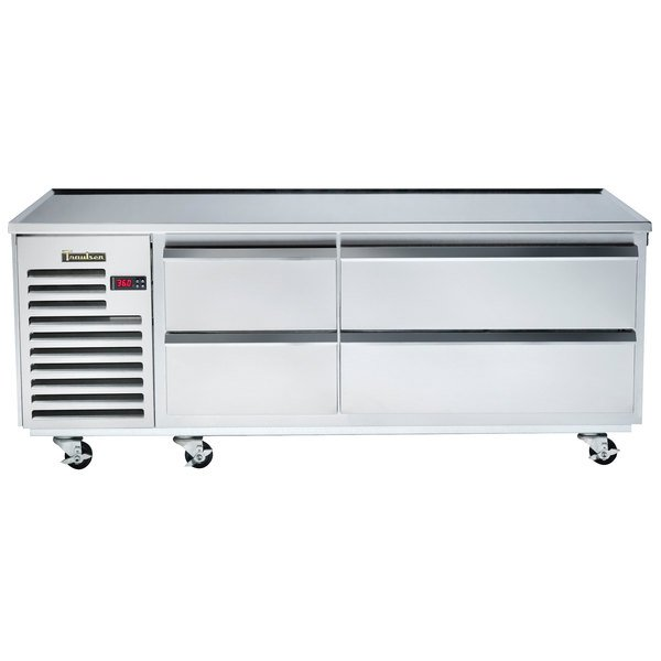 """Traulsen TE065HT 4 Drawer 65"""" Refrigerated Chef Base - Specification Line"""