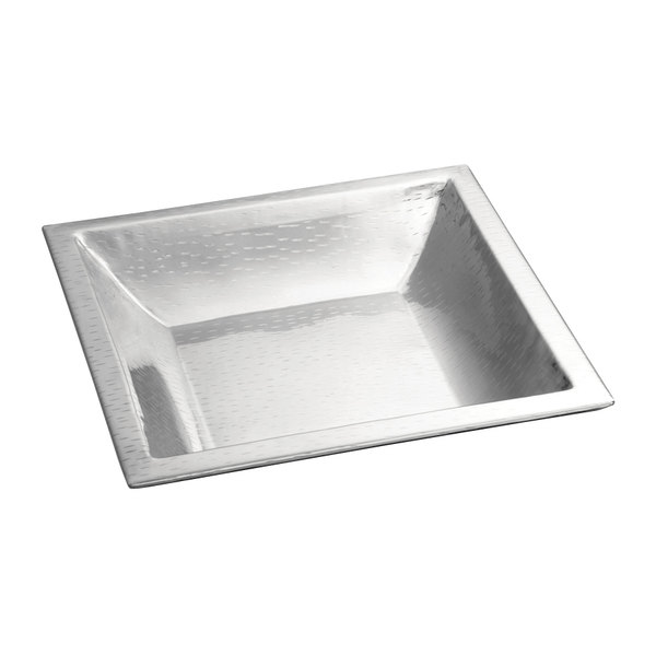 """Tablecraft RB1515 Remington 15 1/2"""" x 15 1/2"""" Square Stainless Steel Bowl"""