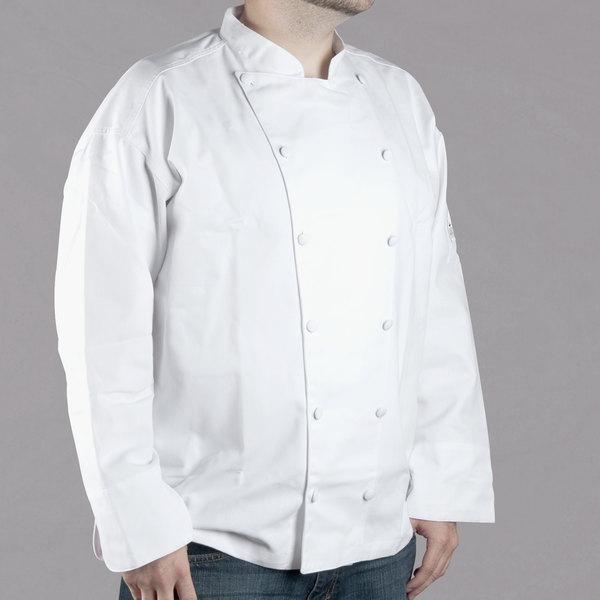 Chef Revival Cuisinier J015 Unisex White Customizable Executive Long Sleeve Chef Coat - XL Main Image 1