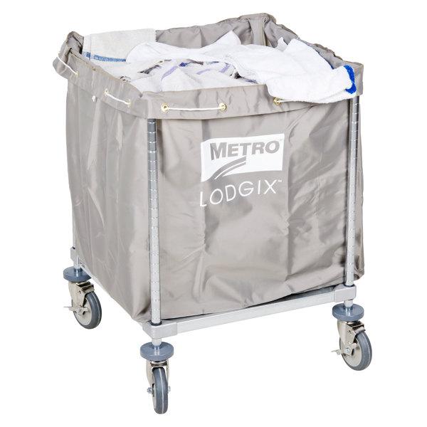 """Metro Laundry Cart, Lodgix Houserunner Essentials Cart, 24"""" x 24"""" x 33"""" - LXHR-ESS"""