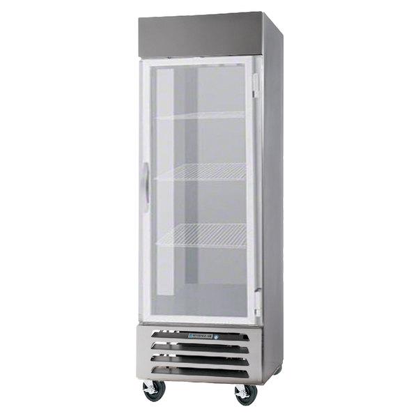 "Beverage-Air HBR23-1-G-LED Horizon Series 27"" Bottom Mounted Glass Door Reach-In Refrigerator"
