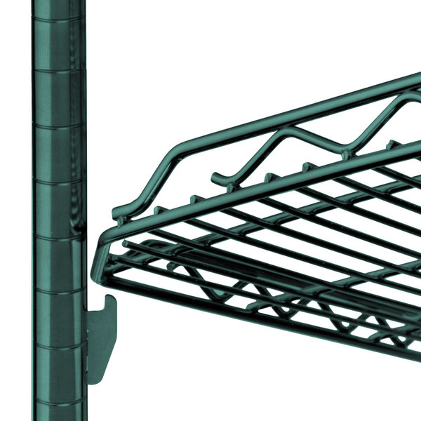 "Metro HDM1848Q-DHG qwikSLOT Drop Mat Hunter Green Wire Shelf - 18"" x 48"""