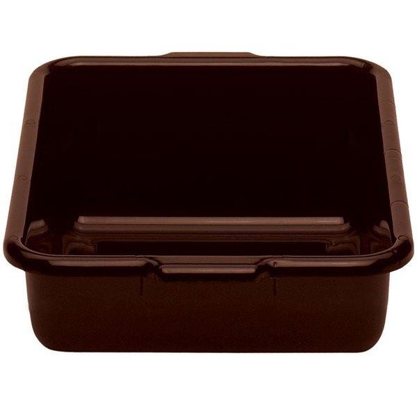 "Cambro 21155CBR131 Regal Cambox 21"" x 15"" x 5"" Dark Brown Plastic Bus Tub Main Image 1"