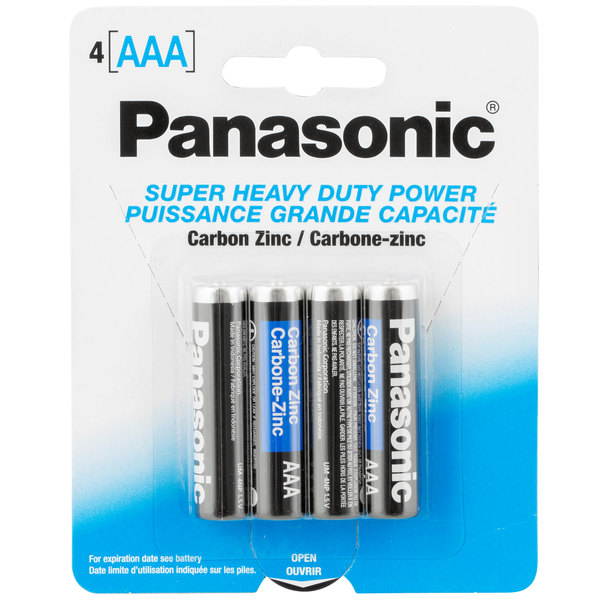Panasonic AAA Super Heavy Duty Battery - 4/Pack