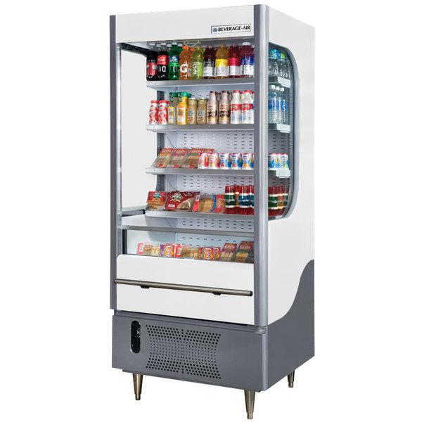 """Beverage-Air VM12-1-W VueMax 35"""" White Air Curtain Merchandiser"""