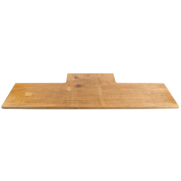 "Cal-Mil 1449-99 32"" x 11 1/2"" Rustic Pine Shelf for 3 Tier Frame Riser"