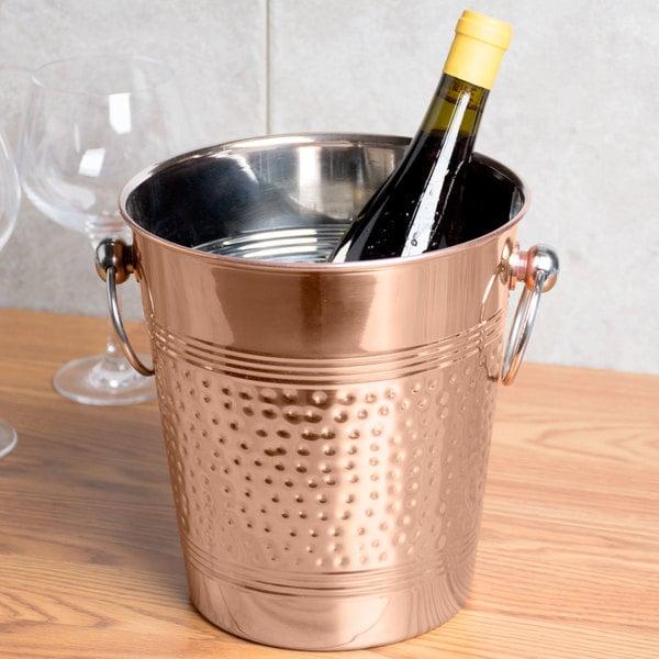 American Metalcraft WB8C 5.25 Qt. Hammered Copper Wine Bucket Main Image 4