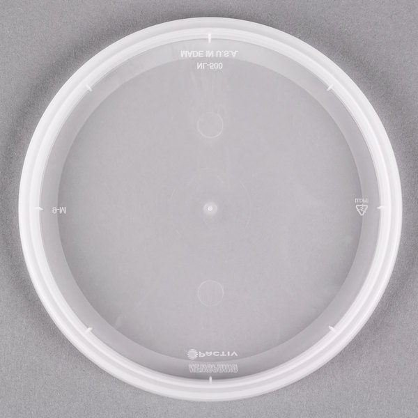 "Pactiv/Newspring YNL500 4 9/16"" DELItainer Translucent Round Deli Container Lid - 480/Case"
