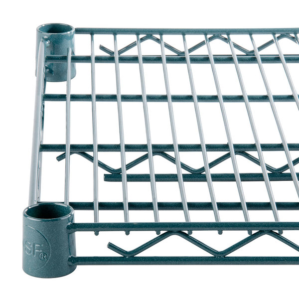 Regency 21 inch x 60 inch NSF Green Epoxy Wire Shelf
