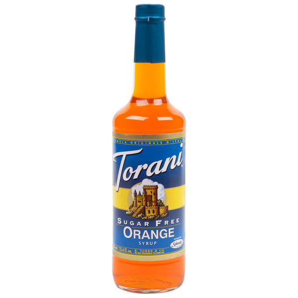 Torani 750 mL Sugar Free Orange Flavoring / Fruit Syrup