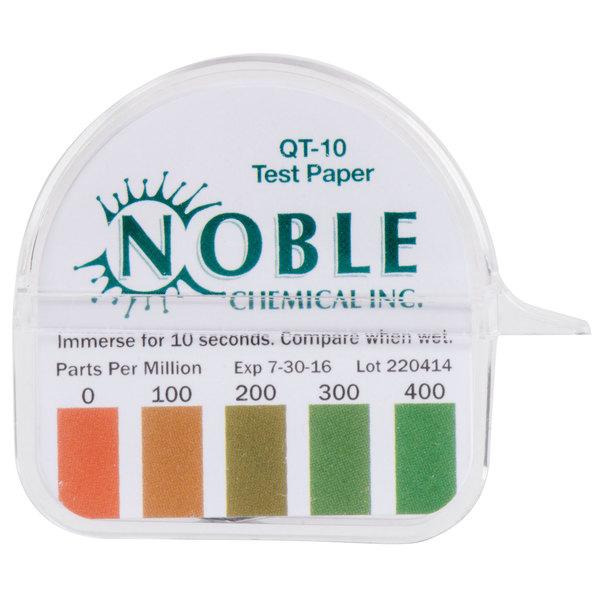 Noble Chemical Qt 10 Quaternary Test Paper Dispenser 0 400ppm