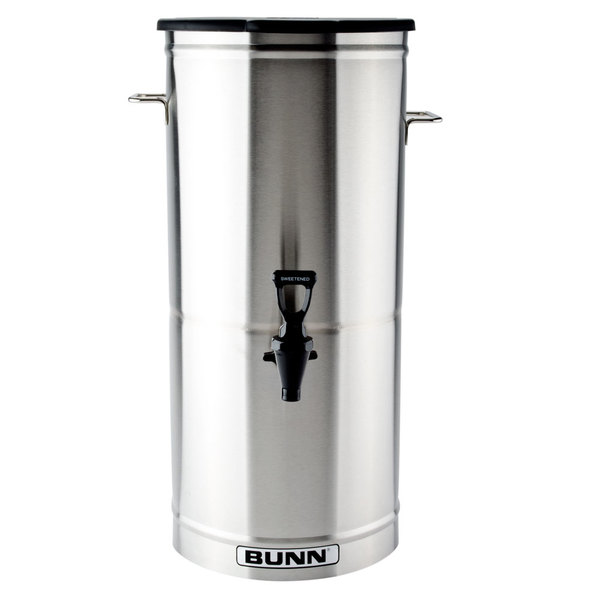 Bunn 34100.0001 TDO-5 5 Gallon Iced Tea Dispenser with Solid Plastic Lid