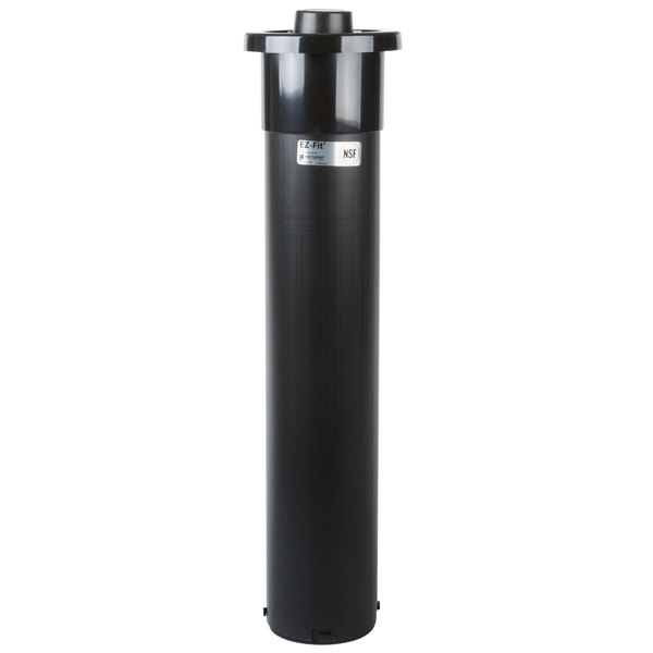 """San Jamar C2210C Euro EZ-Fit In-Counter 6 - 24 oz. Cup Dispenser with White Gasket - 23 1/4"""" Long"""