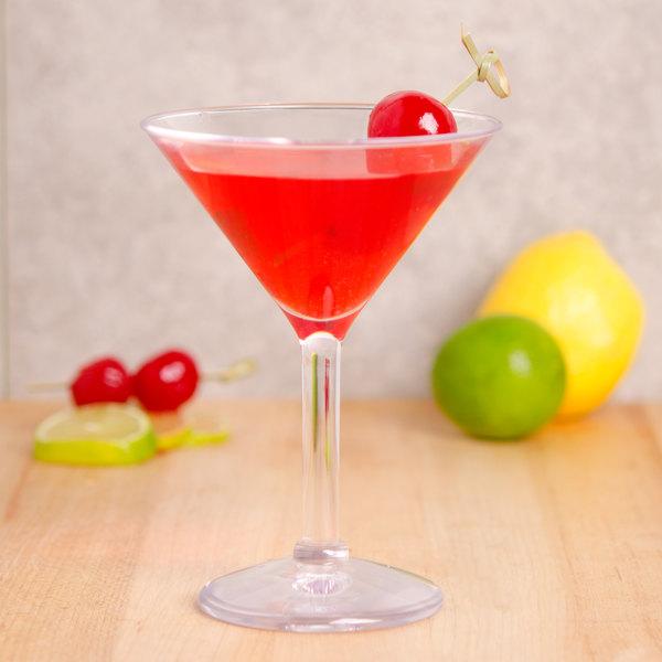 GET SW-1402-CL (SW1402) 6 oz. SAN Plastic Martini Glass