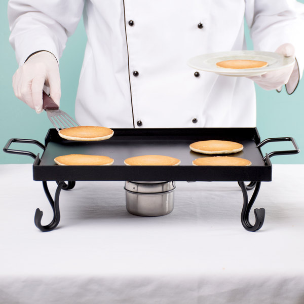 American Metalcraft GS16 1/2 Size Wrought Iron Griddle with Stand Main Image 7